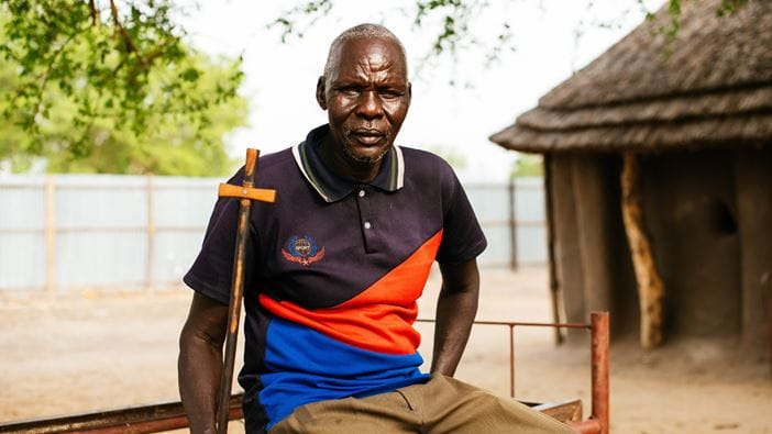 A Reverend from South Sudan engaged in the peacebuilding process