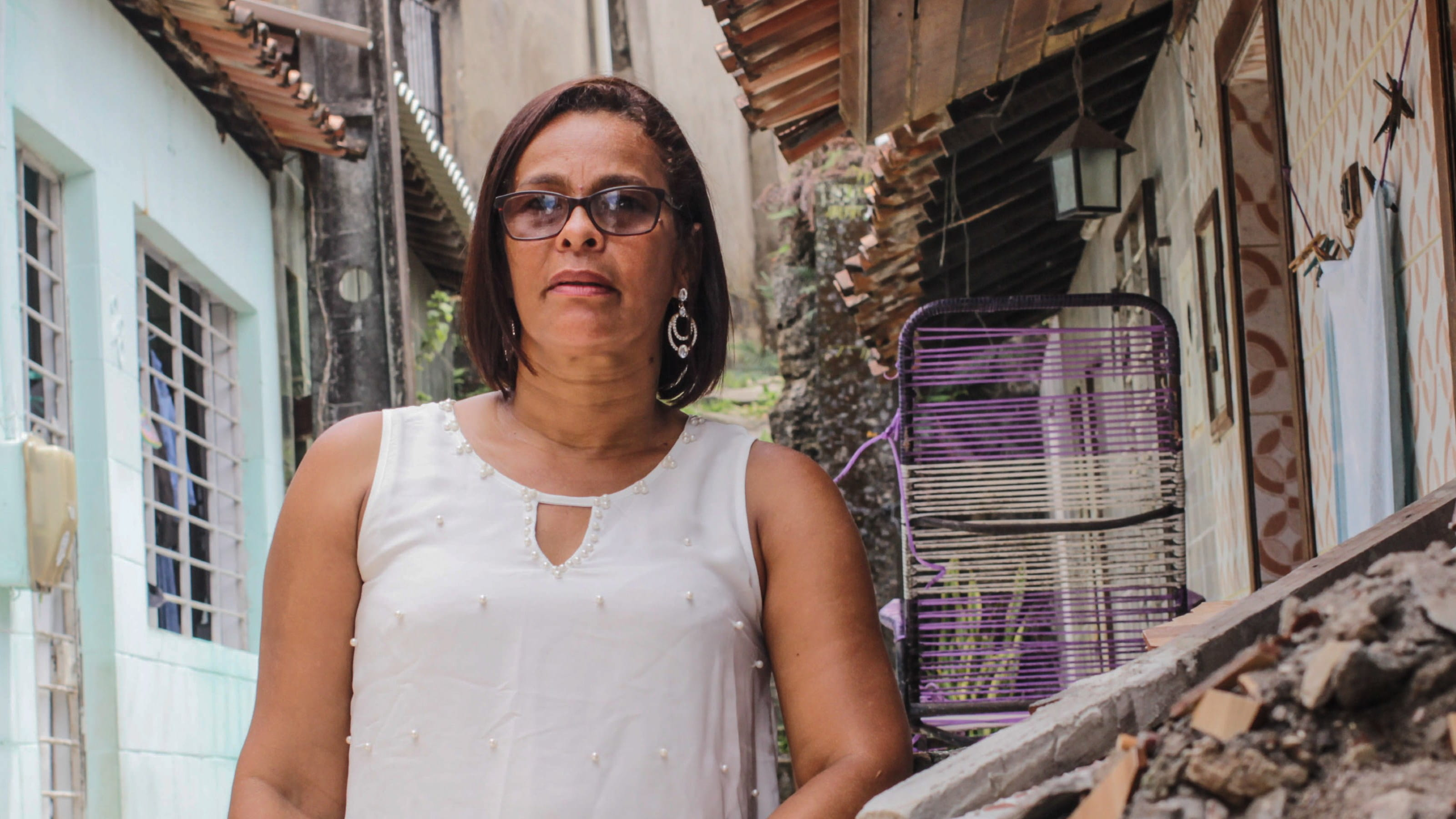 Sandra, an activist in Brazil who speaks out about the issue of plastic polution. Photo: Moises Lucas Lopes da Silva/Tearfund