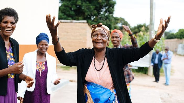 A womens group in Angola who are involved in transforming their community