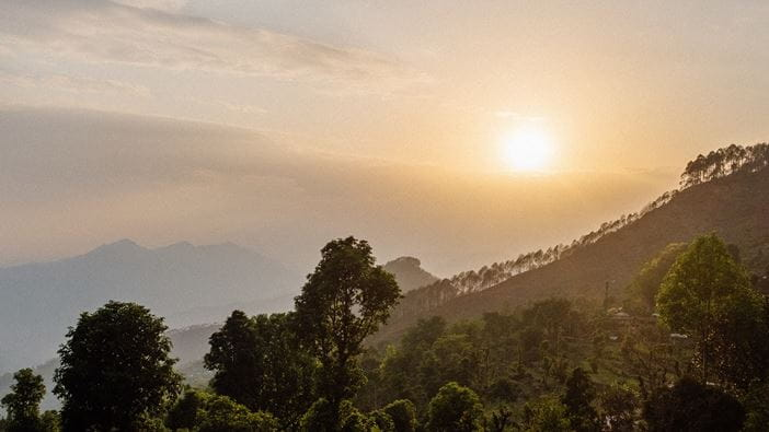 Sunrise over Nepal