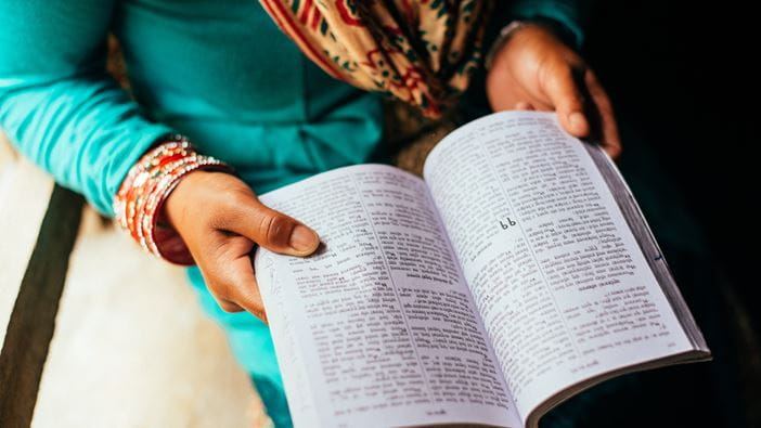 A woman in Nepal runs weekly bible workshops in her community