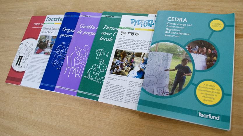 a range of Tearfund publications